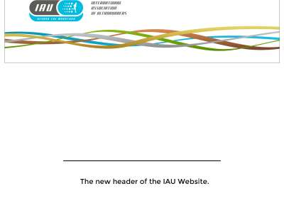 The new header of the IAU Website